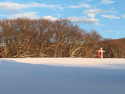 Snow at Camp Manidokan