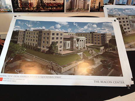 Artist renderings of the proposed new Beacon Center.