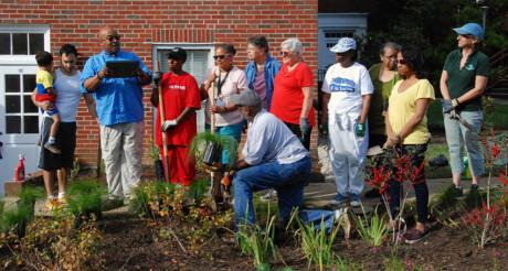 Dedication of the Colesville UMC Rain Garden.