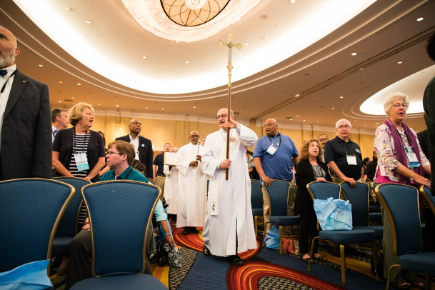 Procession into opening worship on Wednesday Night
